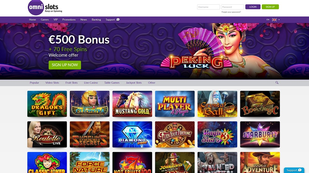omnislots casino screenshot